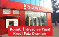 Ziraat Bankası Faiz Oranları